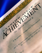 Photograph of a Certificate of Achievement